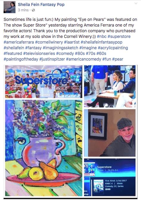 Sheila Fein Fantasypop Art Featured on the Show Superstore